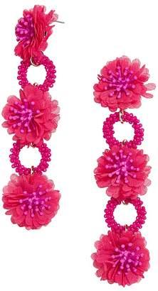BaubleBar Vernita Floral & Hoop Drop Earrings