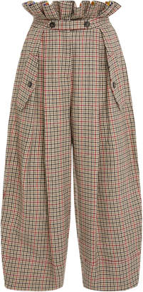 Stella Jean Checked Paperbag Pant