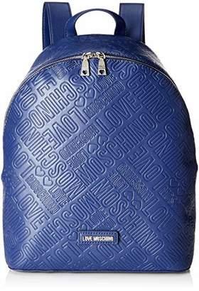 Love Moschino Borsa Embossed Pu, Women's Backpack Handbag,14x37x35 cm (B x H T)