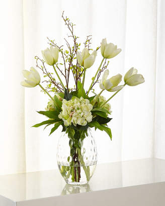 Faux flower arrangements shopstyle ndi tulip hydrangea faux floral arrangement mightylinksfo