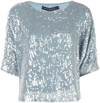 Sally LaPointe sequin embroidered top