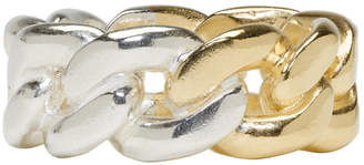 Maison Margiela Gold and Silver Curb Chain Ring