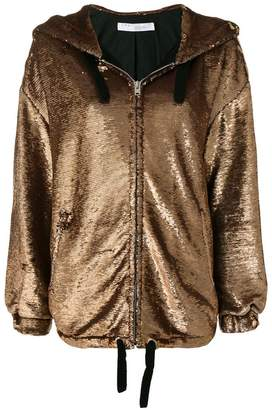 IRO (イロ) - Iro metallic zipped hooded jacket