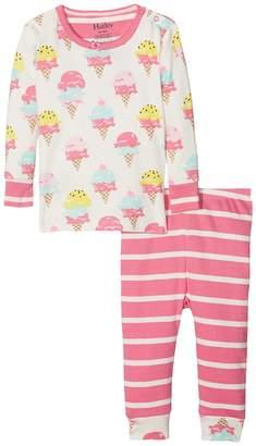 Hatley Ice Cream Treats Long Sleeve Mini Pajama Set Girl's Pajama Sets