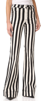 alice + olivia Juno High Waisted Wide Leg Jeans $330 thestylecure.com