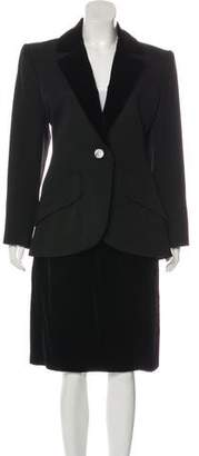 Saint Laurent Velvet Skirt Suit