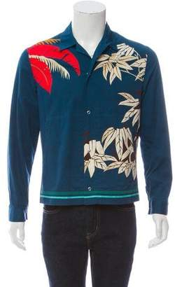 Valentino Hawaiian Print Lightweight Jacket