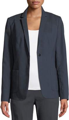 Elie Tahari Wendy Patch-Pocket Jacket w/ Embroidered Back