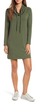 Lou & Grey Signaturesoft Drawstring Cowl Dress
