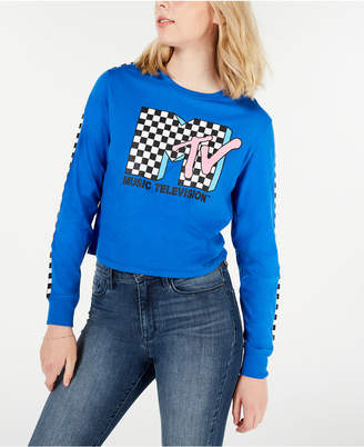 Love Tribe Juniors' Mtv Graphic Cropped T-Shirt
