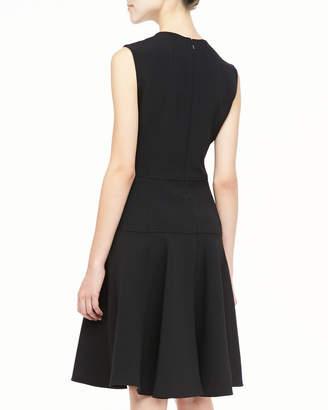 Lela Rose Sophia Seamed Drop Waist Dress