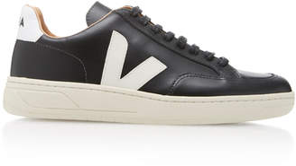 Veja Bastille Two-Tone Leather Sneakers