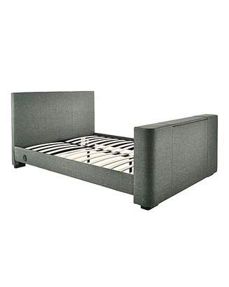 Fashion World Newark Fabric Double TV Bedstead