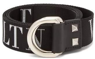 Valentino Vltn D Ring Belt - Mens - Black White