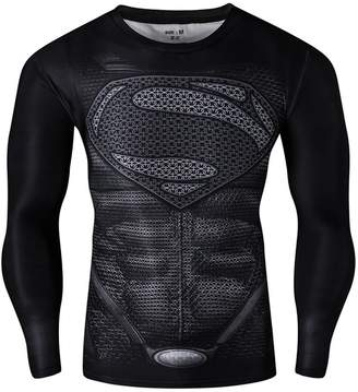Victoria's Secret BFJ Batman Superman T-shirt Superhero 3D Long Sleeve Cool Cycling Shirts