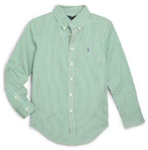 Ralph Lauren Boy's Striped Cotton Poplin Dress Shirt