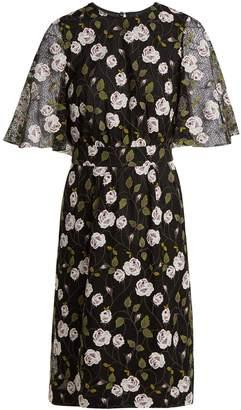 Giambattista Valli Floral-embroidered lace midi dress