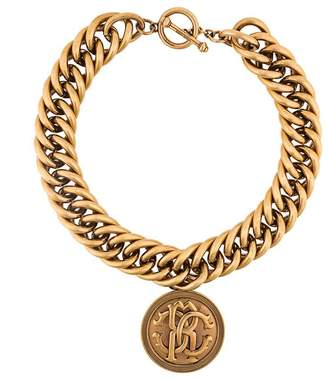 Roberto Cavalli medallion chunky chain necklace
