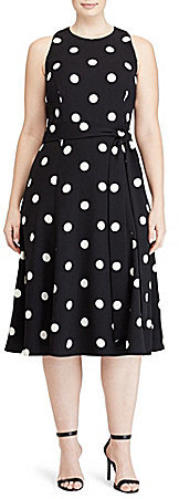 Lauren Ralph LaurenLauren Ralph Lauren Plus Sleeveless Printed Crepe Fit-and-Flare Dress