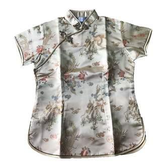 story. Shanghai Chinese Cheongsam Top Short Sleeve Qipao Blouse for Women 8 Ba