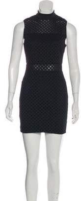 Elizabeth and James Mesh Sleeveless Mini Dress