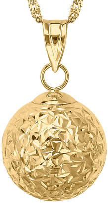 FINE JEWELRY Infinite Gold 14K Yellow Gold Crystal-Cut Orb Pendant Necklace