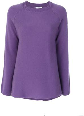 Allude ribbed round neck jumper
