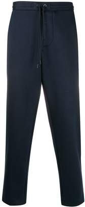 Moncler logo patch cropped track pants