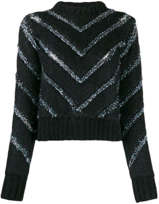 Y/Project chevron stripes jumper