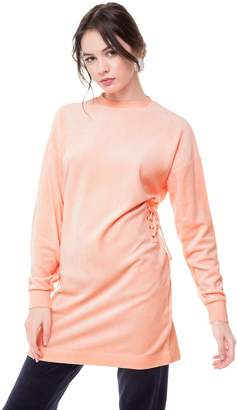 Juicy Couture Velour Side Lace Up Shift Dress