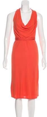 Versace Sleeveless Open Back Midi Dress