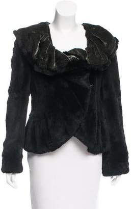 Giorgio Armani Ruffled Collar Fur Jacket w/ Tags
