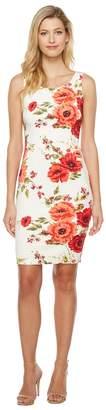 Jessica Simpson Printed Scuba Dress Women's Dress