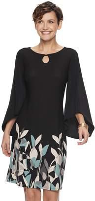 Dana Buchman Women's Print Kimono-Sleeve Dress