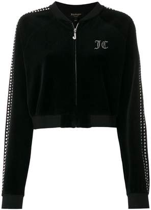 Juicy Couture (ジューシー クチュール) - Juicy Couture Swarovski embellished velour crop jacket