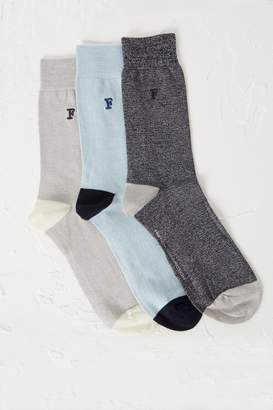 French Connection 3 Pack Maddox Melange Socks