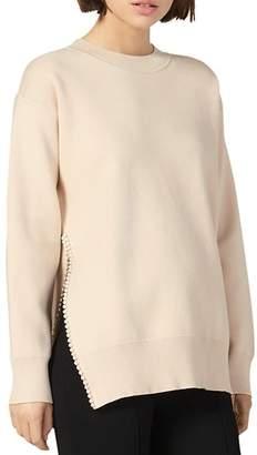 Sandro Pearlin Split-Side Sweater
