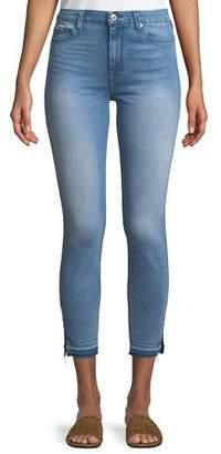 7 For All Mankind High-Waist Ankle-Skinny Jeans w/ Side Hem Splits