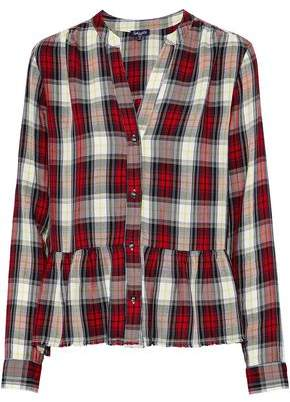 Great Deals For Sale Splendid Woman Checked Flannel Shirt Navy Size S Splendid Clearance Discount TIZ8wvFT