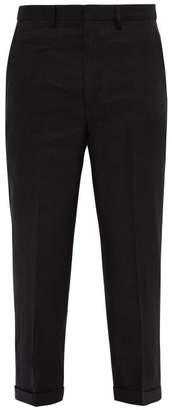 Jacquemus Port Miou Linen Blend Trousers - Mens - Black