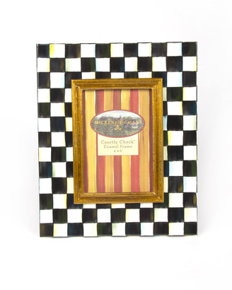 Mackenzie Childs Large Courtly Check Photo Frame