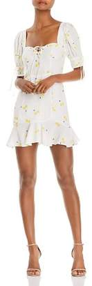 For Love & Lemons Ashland Lace-Up Dress