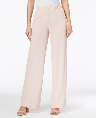 INC International Concepts Crepe Wide-Leg Pants, Only at Macy's $69.50 thestylecure.com