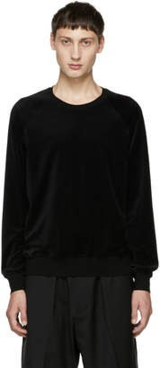 3.1 Phillip Lim Black Classic Velour Sweatshirt