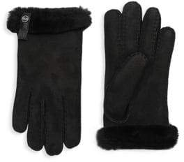 UGG Sheepskin and Dyed Shearling Tenney Gloves