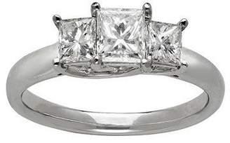 Trilogy JeenJewels Exquisite Three Stone Diamond Wedding Ring 0.25 Carat Princess Cut Diamond on Gold