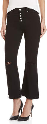 7 For All Mankind Distressed Cropped Ali Flare Jeans