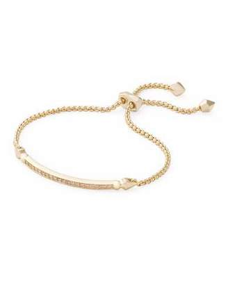Kendra Scott OTT Adjustable Chain Bracelet w/ Cubic Zirconia