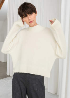 And other stories Wool Blend Cropped Turtleneck