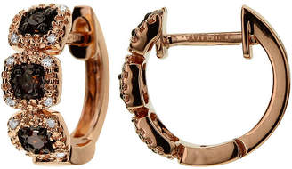 FINE JEWELRY LIMITED QUANTITIES 1/7 CT. T.W. White and Champagne Diamond Hoop Earrings
